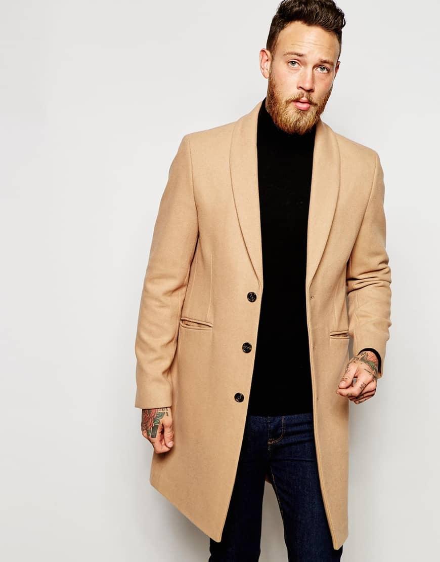 мужское Пальто цвета «Кэмел»