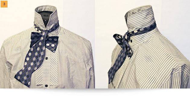 инструкция, как завязать галстук-бабочку шаг 2
