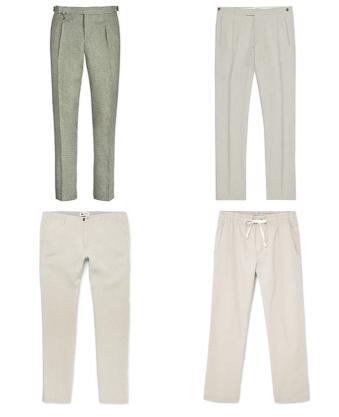 Мужские брюки из льна