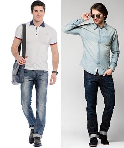 Классические джинсы прямого кроя