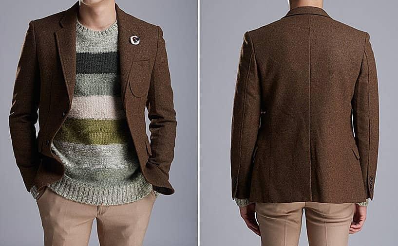 Стильные мужские пиджаки из натуральной шерсти
