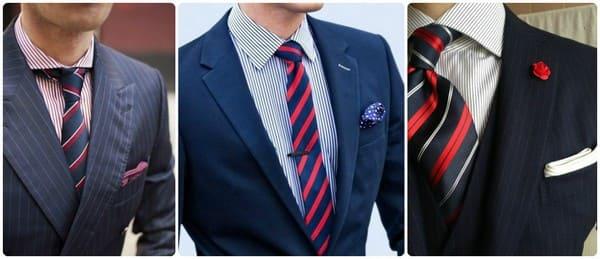 Полосатая рубашка и галстук в полоску
