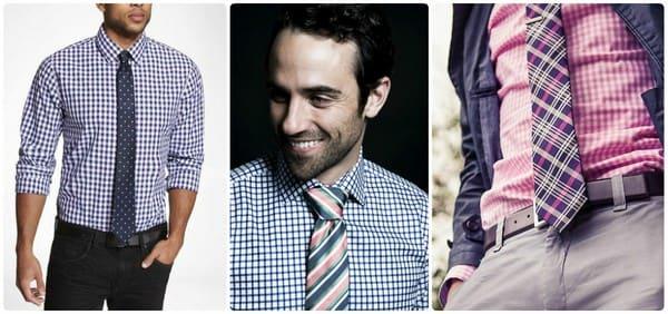 Рубашка и галстук в клетку