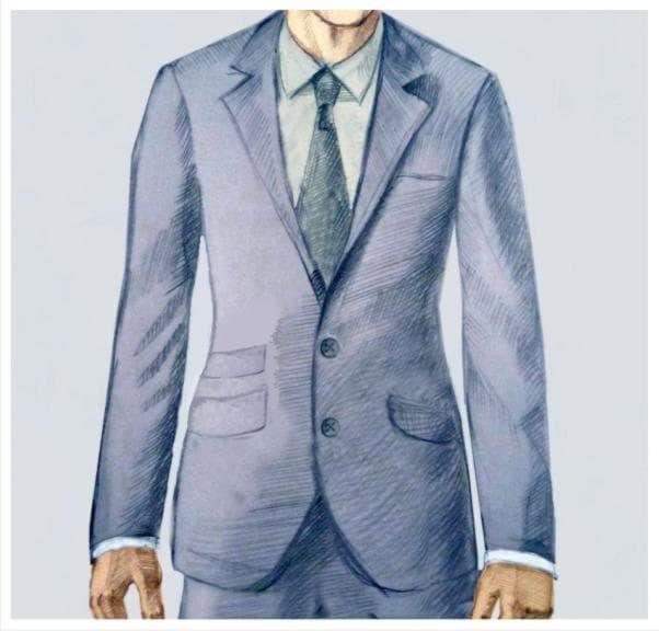 Мужской костюм с ларнетным карманом