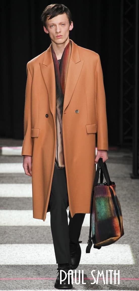 Пальто в английском стиле от Ami и Paul Smith