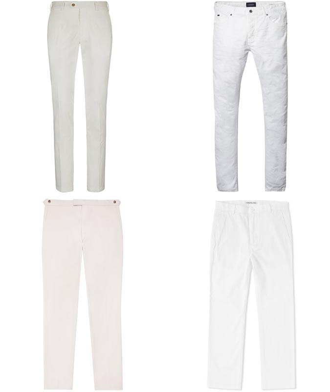 примеры белых брюк