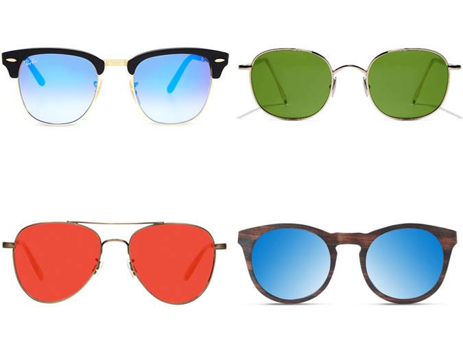 примеры очков с цветными стеклами