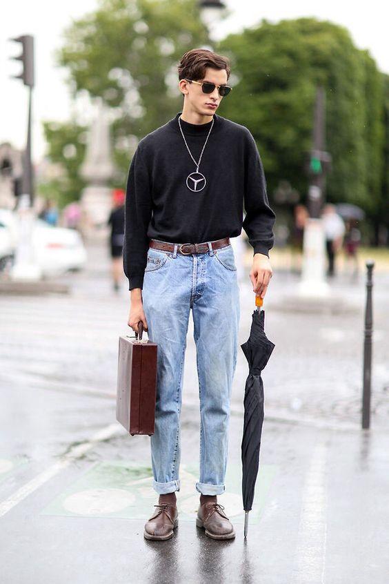 Обувь под мужские джинсы широкого кроя