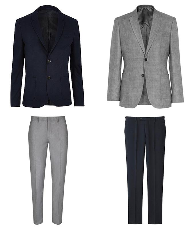 серый и синий примеры