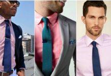 Комбинация мужских рубашек и галстуков