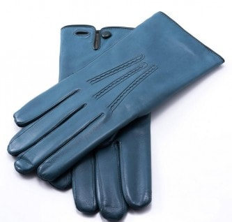 Теплые перчатки из кожи ягненка
